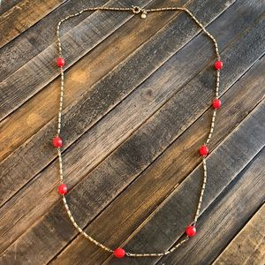 J. Crew Red/Orange Necklace